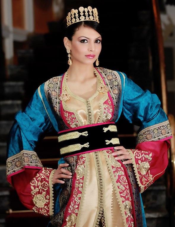 beautifull princess caftan made in morocco, land of oriental Caftan