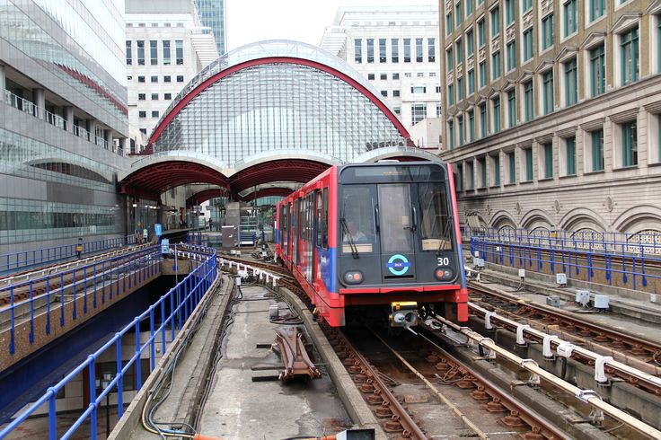 Canary Wharf station on the Docklands Light Railway, July 2017