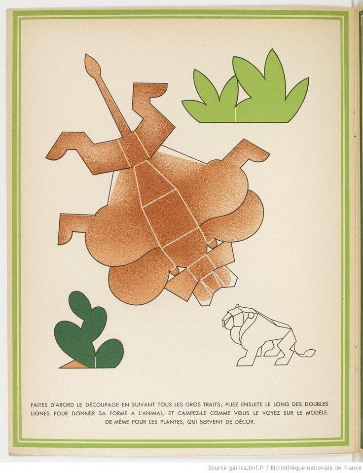 La Jungle chez moi. Série de 8 images et découpages... / dessins de Turenne Chevallereau