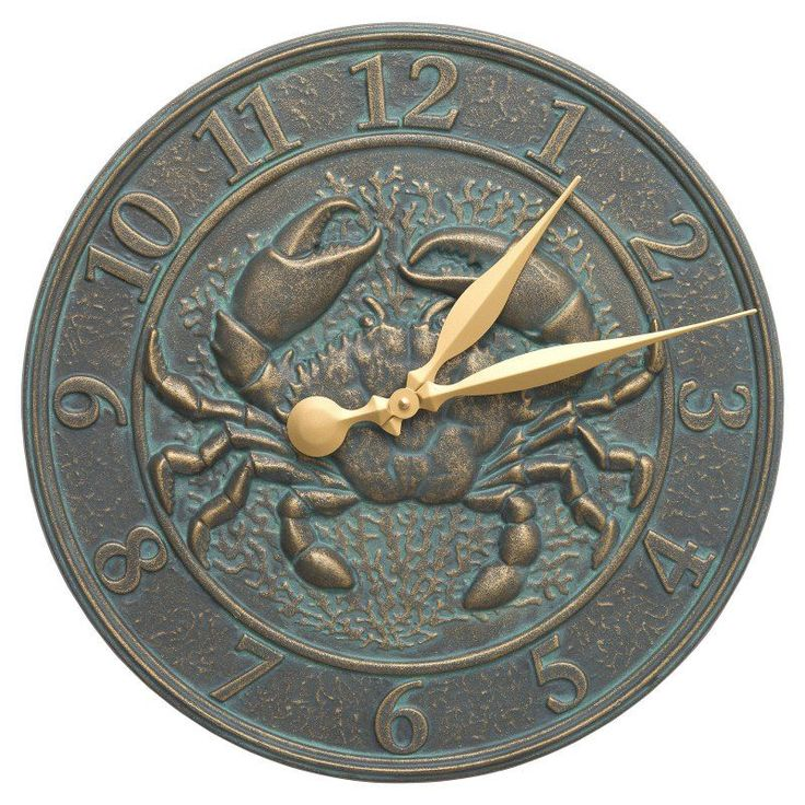 Whitehall Crab Sealife Outdoor Wall Clock - 00581