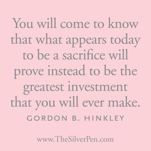 It WILL be worth it, and can apply to so many different aspects of life.