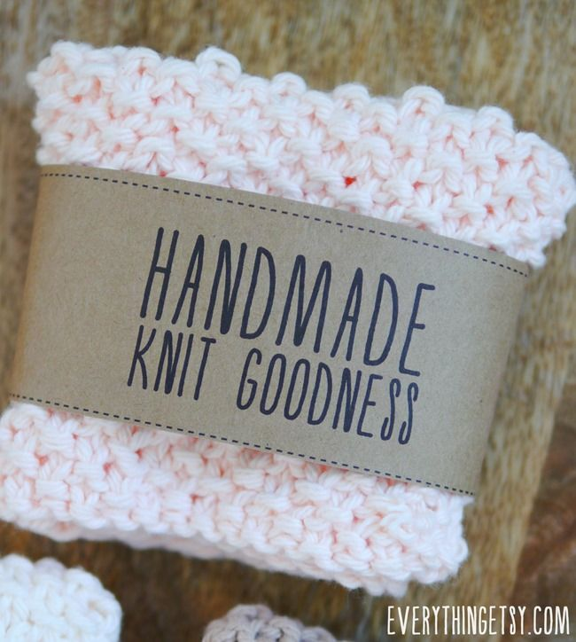 Knitting Labels Handmade : Handmade knit goodness labels free printables on