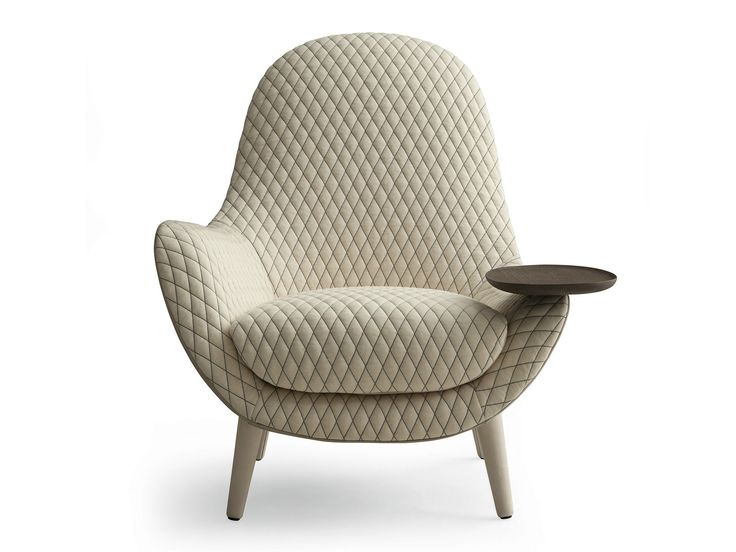 Upholstered fabric armchair with armrests MAD KING Mad Collection by Poliform design Marcel Wanders