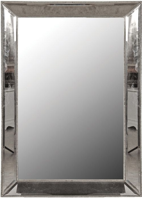 Antiqued Glass Smoked Studded Mirror | Sweetpea and Willow