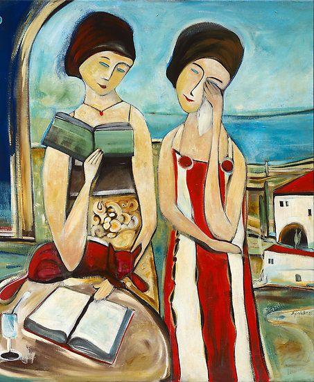Painter & Sculptor, Michele Righetti was born in 1974, Italy.  Poemas do Gato Vermelho, by Michele Righetti,  2006