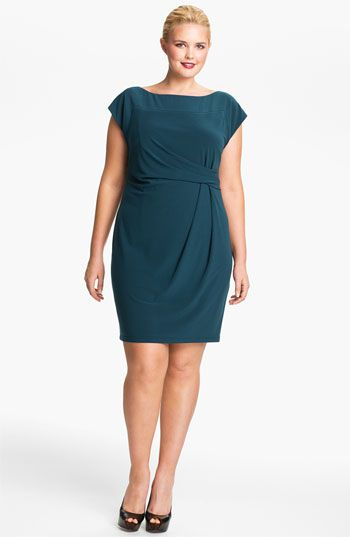 Jessica Simpson Side Knot Matte Jersey Dress (Plus) | Nordstrom