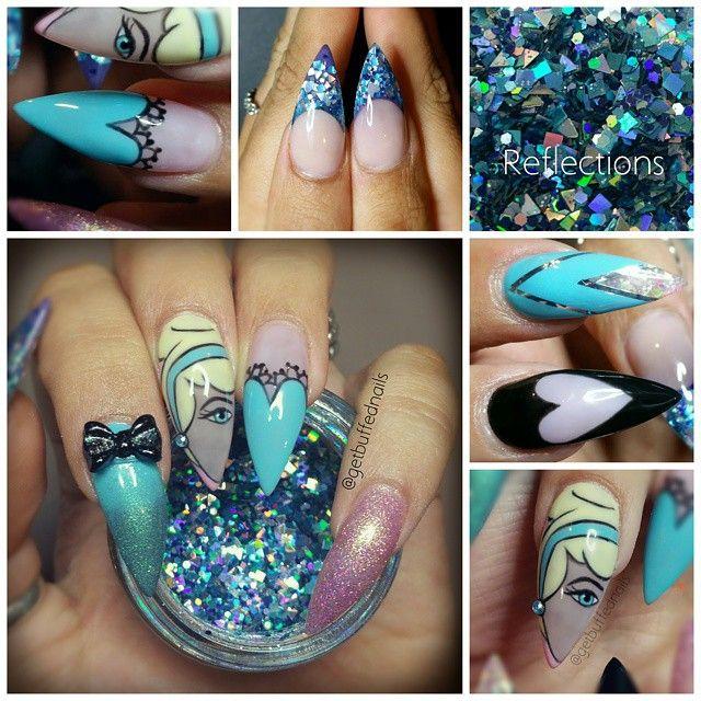 Cinderella nails. # Disney super Gorge.  ♡ Pinterest @pietmanie