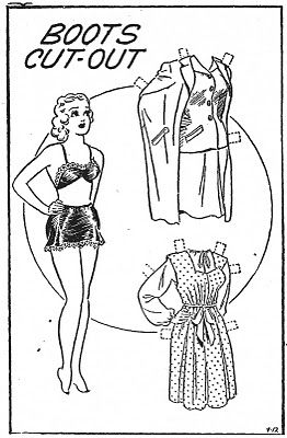 Boots 1940s Paperdoll