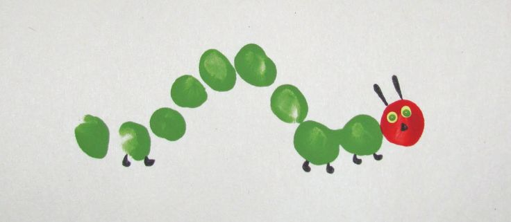 .: Birthday, Fingerprint Craft, Very Hungry Caterpillar, Fingerprints, Caterpillar Fingerprint, Crafts, Kid
