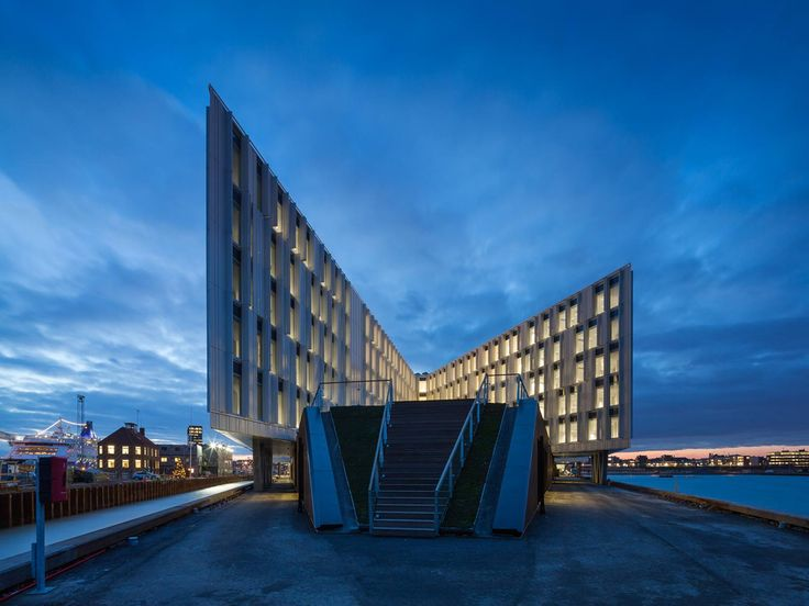The new regional head office of the United Nations in Copenhagen, Denmark, designed by the architectural firm 3XN, has been opened.  The €134m headquarters, dubbed the UN City complex, is situated at Marmormolen, north of Copenhagen's city centre and has the capacity to accommodate 1,700 employees.  UN City is shaped as an eight-armed star, with construction on the five most eastern arms completed at the start of 2013 and the remaining three arms expected to be complete in 2014.