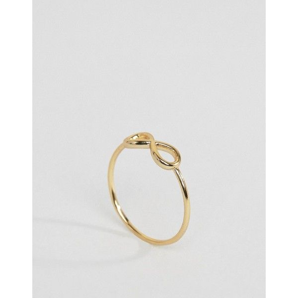 Pilgrim Gold Plated Infinity Ring ($12) ❤ liked on Polyvore featuring jewelry, rings, gold, pilgrim jewellery, infinity jewelry, infinity jewellery, pilgrim jewelry and infinity ring