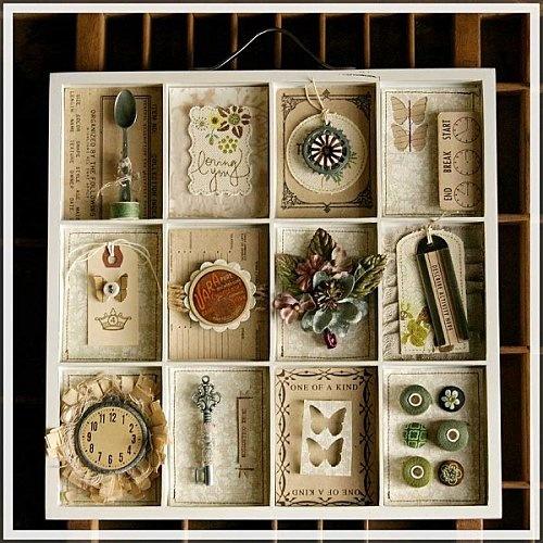 printers tray- full of trinkets