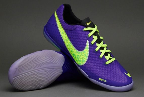 outlet store f67c7 83b29 Nike Football Boots - Nike Elastico Finale II - Fives - Indoor - Soccer  Cleats - Pure Purple-Volt-Electric Green size uk 8