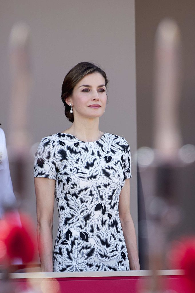 Queen Letizia of Spain Photos Photos - Queen Letizia of Spain attends the Armed Forces Day on May 27, 2017 in Guadalajara, Spain. - Spanish Royals Attend Armed Forces Day 2017