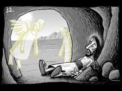 Lent Video: 40 days of Jesus in the desert. 40 illustrations drawn on Lent by illustrator Si Smith put into a Lent Movie following Jesus' Journey into the Wilderness for Forty days #Lent #Lenten