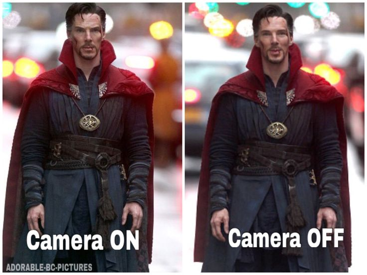 Benedict Cumberbatch when filming Doctor Strange. lol. No captions needed!