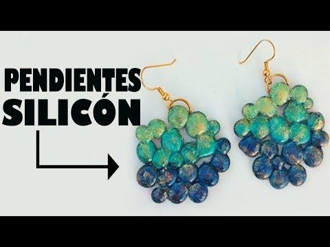 PENDIENTES DE SILICÓN hot silicone earrings MANUALIDADES POR GEORGIO.
