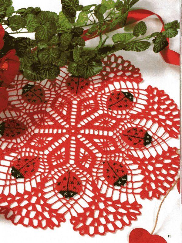 Croche maravilha de arte: Toalhinha joaninha...gráfico