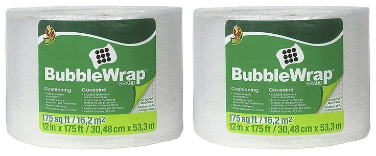 Duck Brand Bubble Wrap Original Protective Packaging CaQrG 2Pack 12 in. x 175 ft.