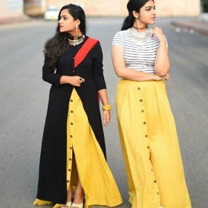 ##Women's fashion skirt made with woven cotton linen and polyester interlock ##Button fastening at front ##Inverted pleats at waist ##Partially lined