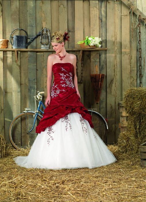 Vestidos de Boda Rojo con Blanco - Para Más Información Ingresa en: http://vestidoscortosdemoda.com/vestidos-de-boda-rojo-con-blanco/