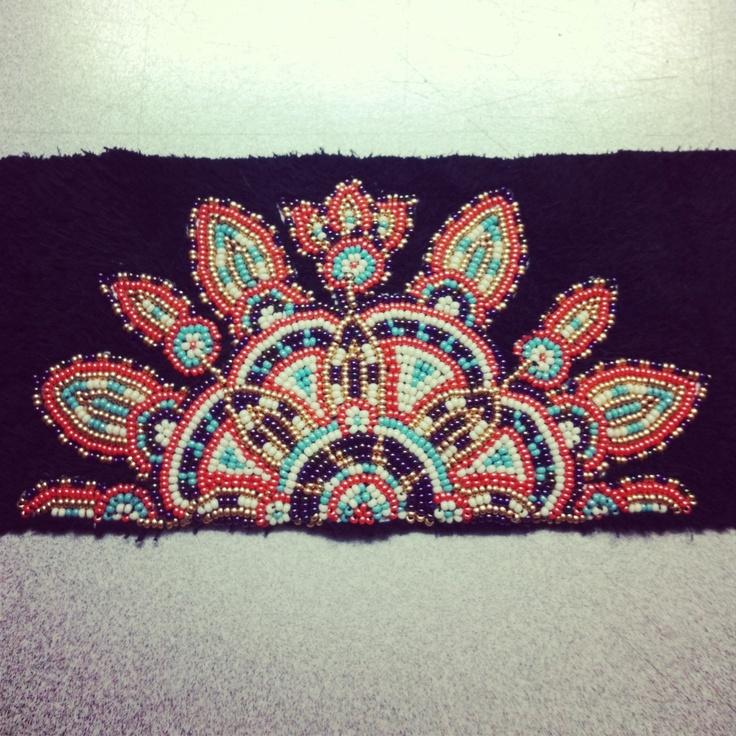 Original mandala beadwork for mukluks
