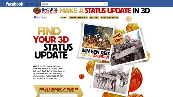 Bacardi Together Facebook app