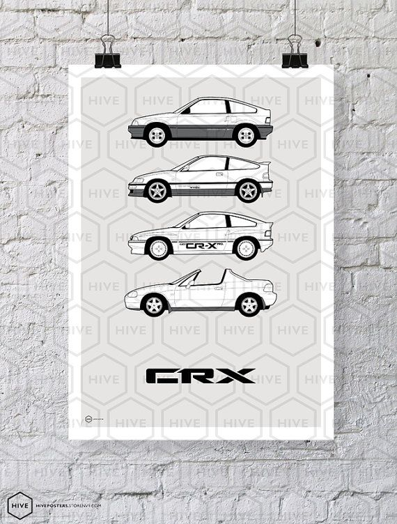 Honda CRX Generations Poster by HivePosters on Etsy