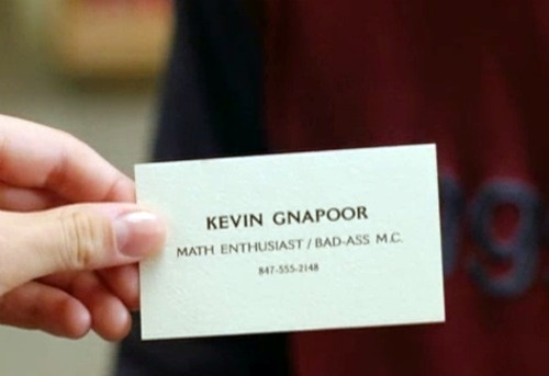 Kevin Gnapoor From Mean Girls Infamous Business Card Math