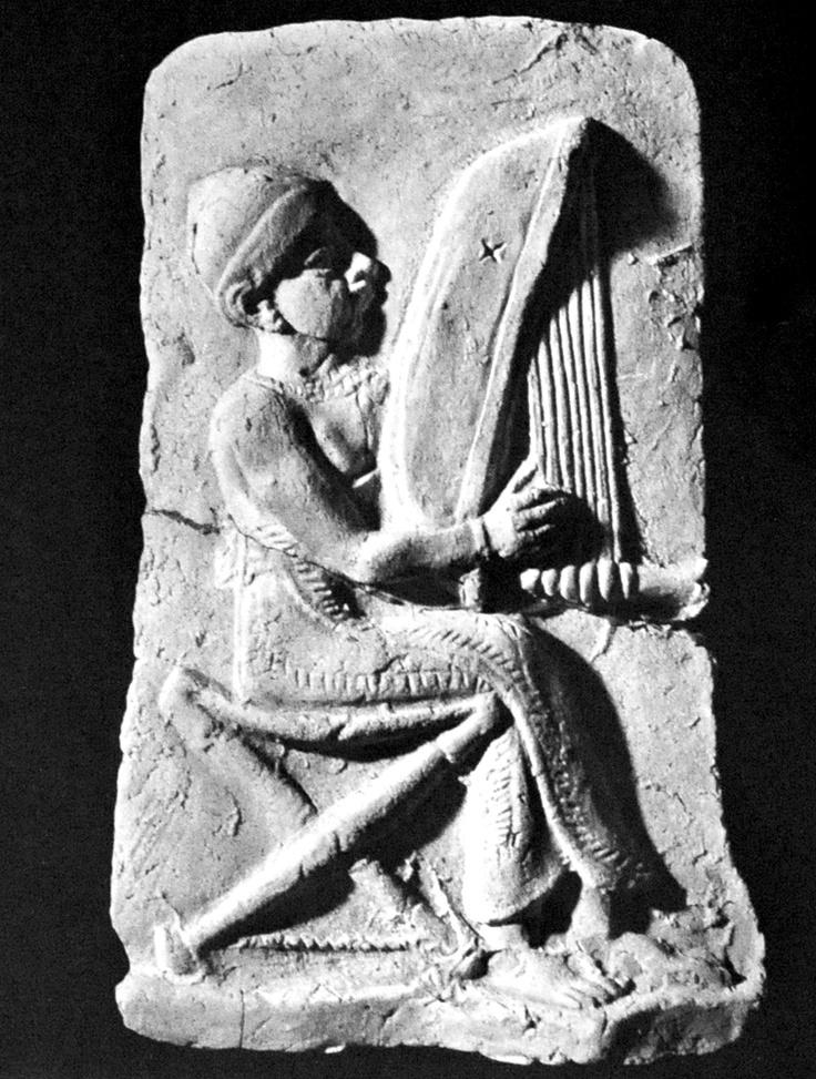 Harpist from ancient Babylonia c Oriental Institute
