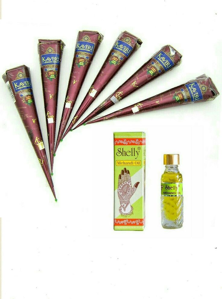 Best Henna Cones: Details About 6 Natural Herbal Henna Cones Temporary