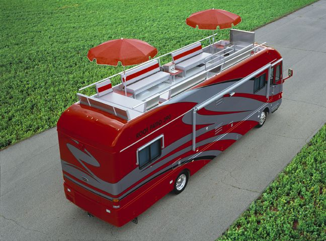 39 best images about motorhomes on pinterest trucks vw for Rv with roof deck