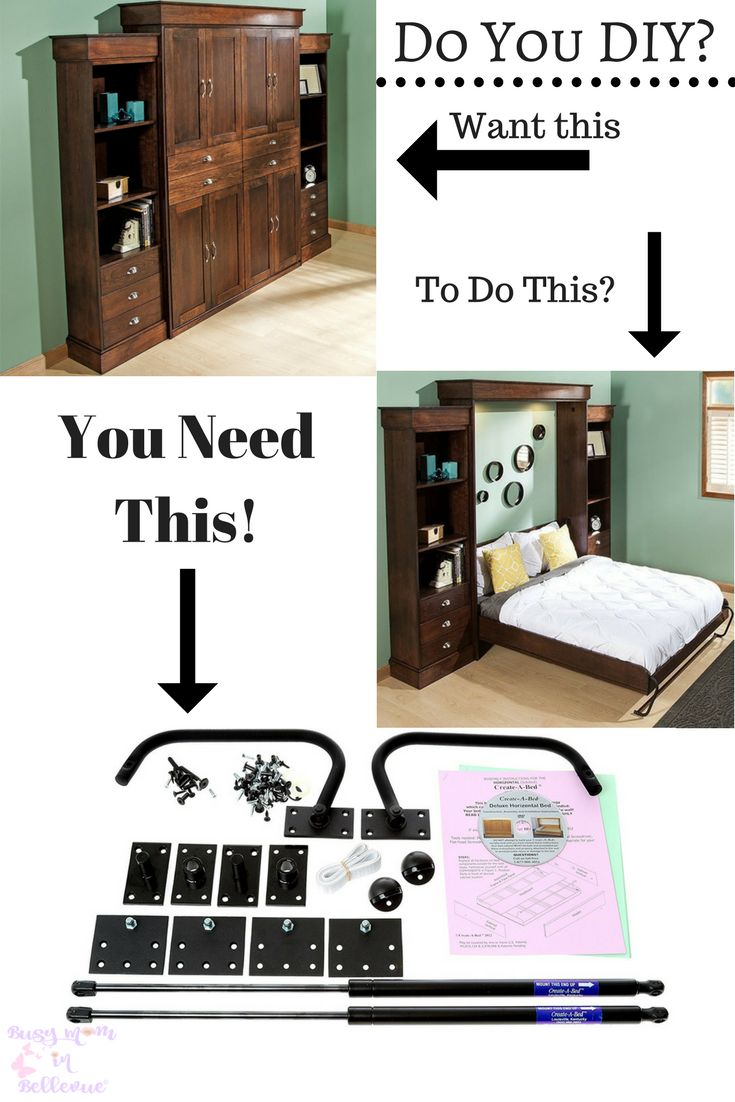 Twin size deluxe Murphy Bed kit, great space saving #DIY project #ad