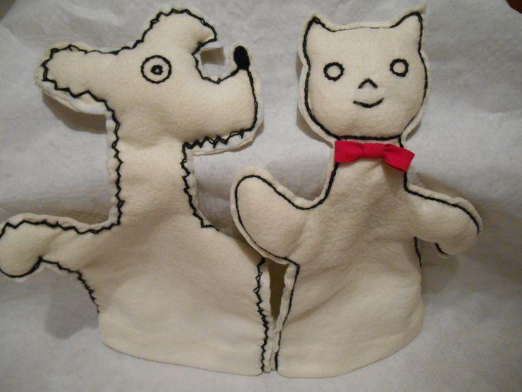 maňásci - pejsek a kočička