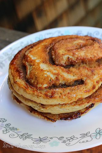 Lovin' From The Oven:Cinnamon Roll Pancakes - Lovin' From The Oven