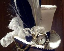 Alice in Wonderland Mini-cilinderhoed Steampunk hoed vrouw hoed Mad Hatter hoed Mardis Gras hoed Alice feest hoed