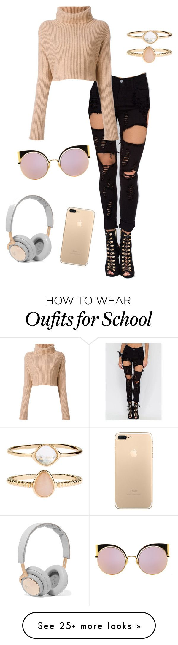 """""""School Look 2"""" by oliviahugo on Polyvore featuring Accessorize, Fendi and B&O Play"""