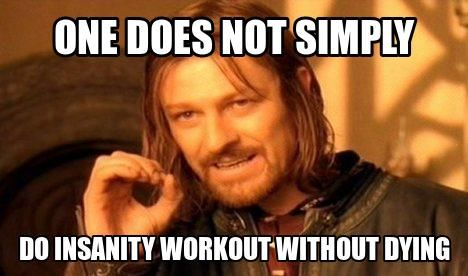 Do Insanity workout without dying