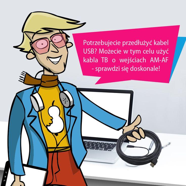 Chcecie przedłużyć #kabel #USB? Możecie w tym celu użyć kabla #TB o wejściach AM-AF! :) #cable #gadget http://goo.gl/vXQnKk