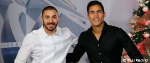 Benzema y Varane felicitan la Navidad