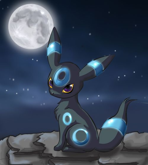 pokemon shiny umbreon | Shiny Umbreon at night