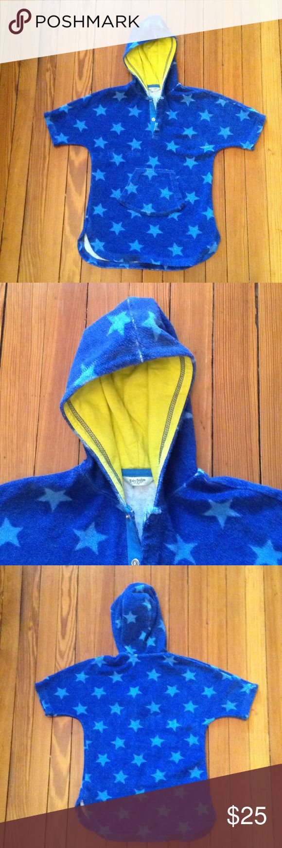 Boden swim cover up Boden terry cloth swim cover up, size 2-3 years old. Functional pocket, hood, and snaps at neck.  Perfect for after the beach pool, or water park. Excellent used condition. Boden Swim Coverups