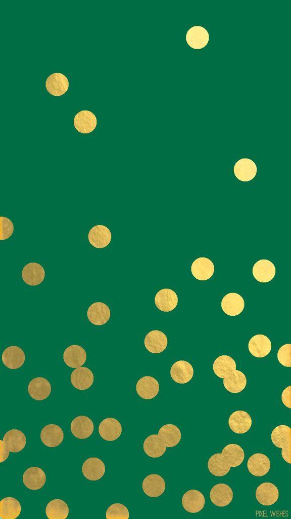 emerald green and gold iPhone Christmas wallpaper  better quality here :}  https://muddledink.files.wordpress.com/2015/03/weblogoemeraldgolddot.jpg