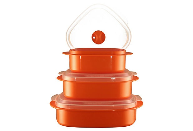 6-Piece Microwave Cookware Set, Orange on OneKingsLane.com