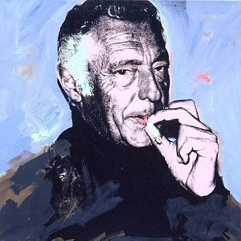 1972 oil painting done by Andy Warhol of Gianni Agnelli