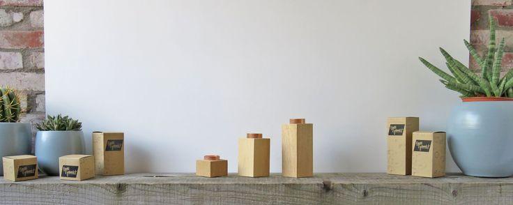 Kaarshouders koper. Varianten mini, medium & large: inclusief verpakking.