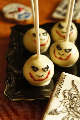 ハロウィン★ジョーカーのケーキポップ