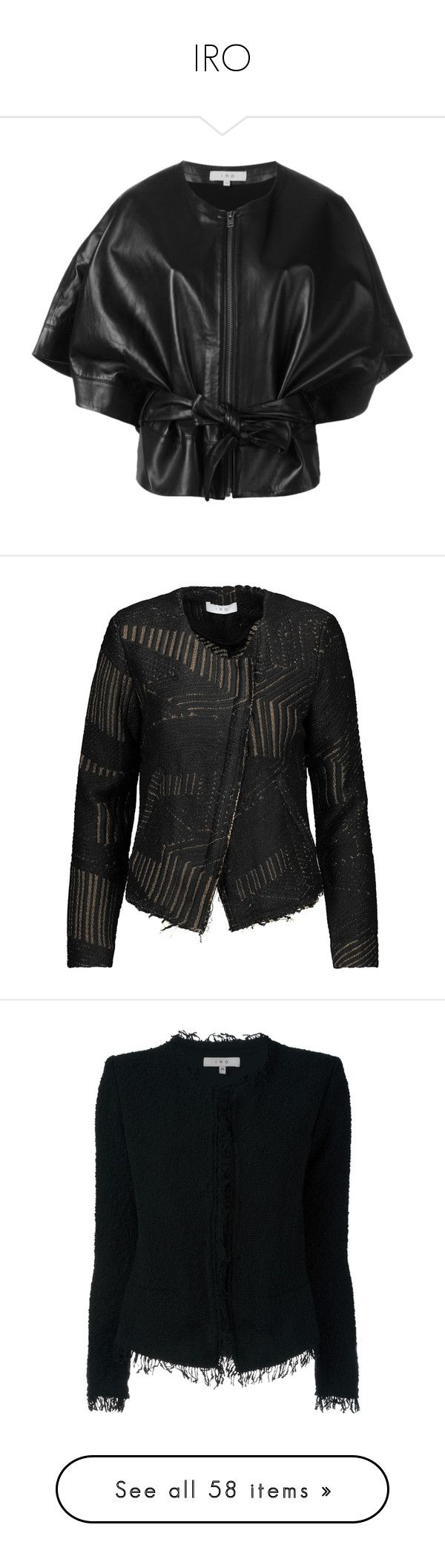 """""""IRO"""" by mari-sv ❤ liked on Polyvore featuring outerwear, jackets, black, genuine leather jackets, 100 leather jacket, iro jacket, leather jackets, real leather jackets, asymmetrical zipper jacket and asymmetrical zip jacket"""