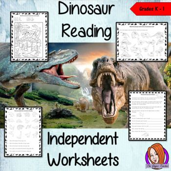 Dinosaur work for independent groups This download has 26 pages to help children with their reading skills. Included in the sheets are:-Color by sound sheets-Dinosaur word searches-Dinosaur facts cloze sheets-Instruction reading sheets-Match the word to the sounds sheets-Name the dinosaurs sheets-Reading comprehension sheetsThanks for looking **************************************************************************Some of my other products: Science Lessons Big Bundle  Space and The Solar…
