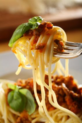 Low GL (diet) Spaghetti Bolognese recipe, from the Patrick Holford Low-GL Diet Cookbook  |
